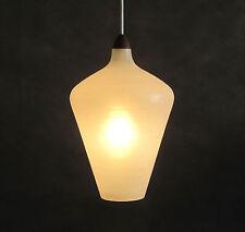 Teak Deckenleuchte 60er 70er Jahre Mid Century Lamp Glass Wood Danish Design
