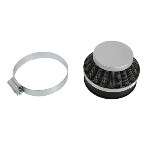 60mm Sliver Air Filter Fits 49 60 80cc Engine Motor Motorized Motorised Bicycles
