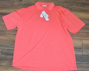 310ed0acbeb Coral DriFlow Easy Care GRAND SLAM Performance Golf Shirt Big & Tall ...
