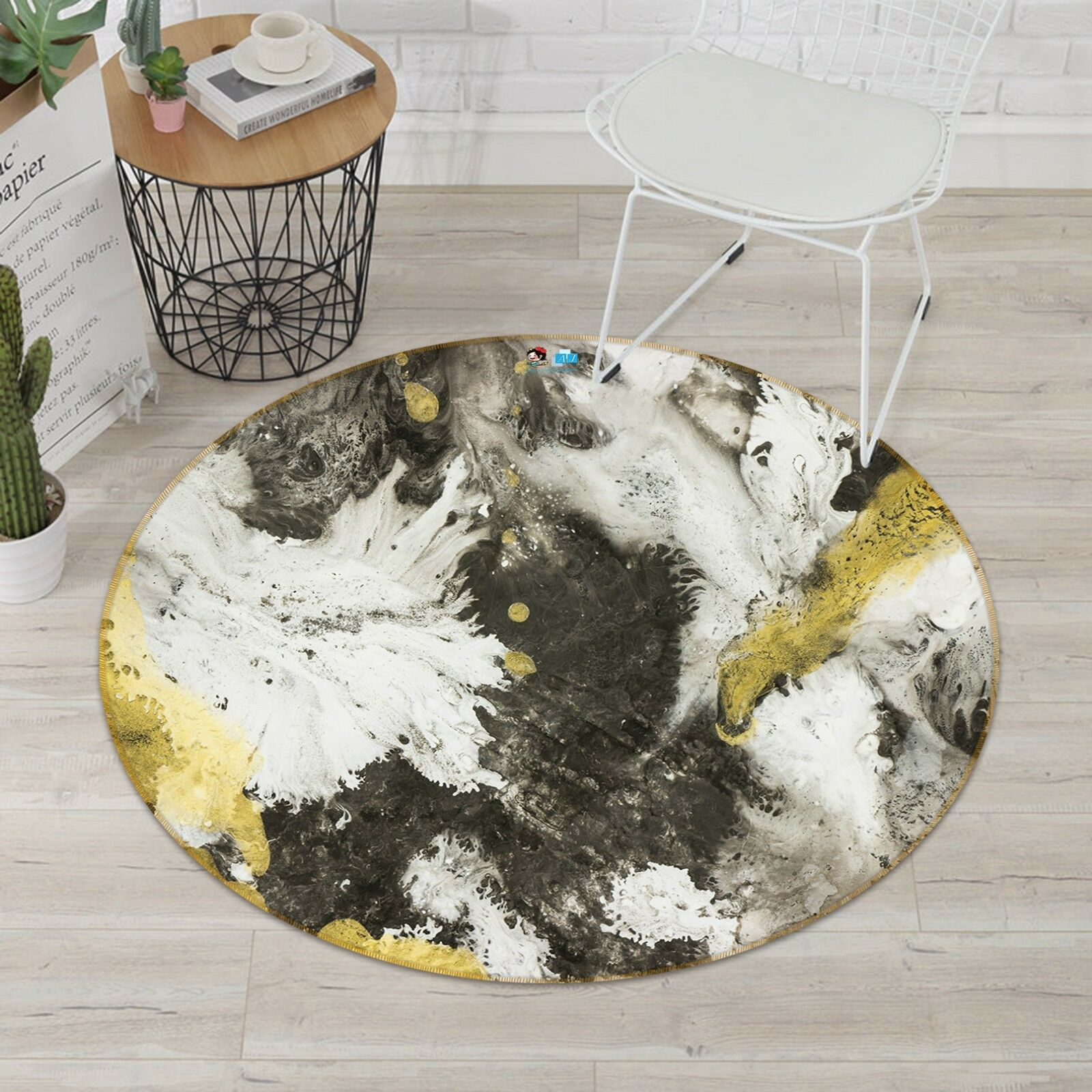 3D Visual Design 8 Non Slip Rug Room Mat Round Quality elegant photo carpet AU