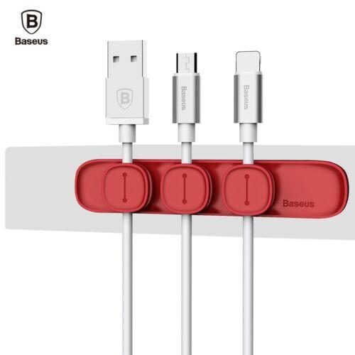 Baseus Magnetic Cable Clip Organizer Wire Cord Management Winder Line Holder hi