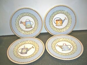 4-SAKURA-039-039-WATERING-CAN-039-039-PORCELAIN-PLATES-BY-DEBBIE-MUMM-8-1-4-039-039