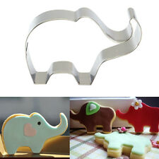 Elephant Shape Stainless Steel Cookie Cutter Cake Bake Mould Biscuit Gift