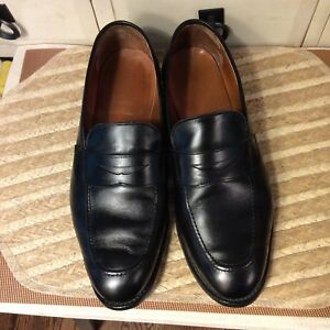 a66ea9342b6 Image is loading Allen-Edmonds-Lake-Forest-black-Leather-Penny-loafers-
