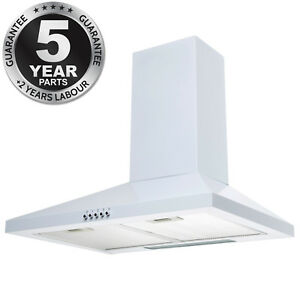 Image Is Loading SIA CHL61WH 60cm Chimney Cooker Hood Kitchen Extractor