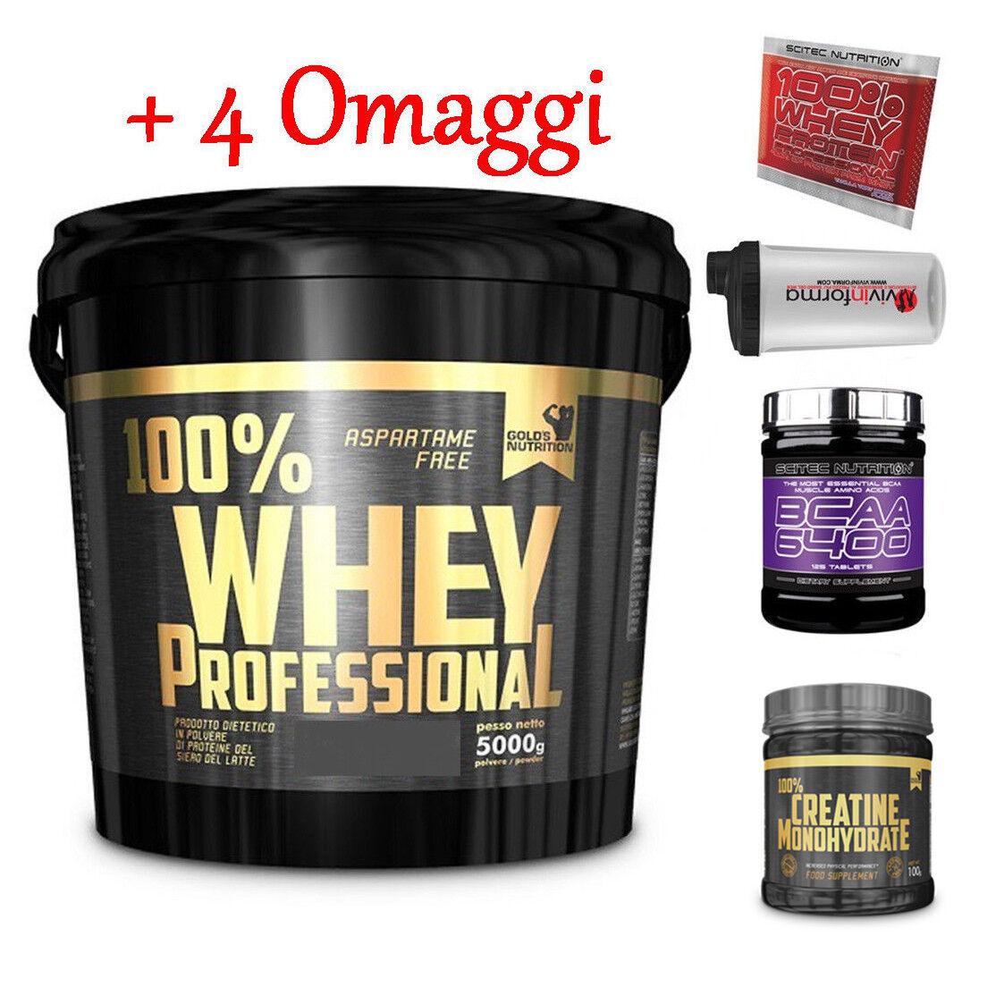 Gold's Nutrition 100% whey protein professional 5 kg proteine siero+ siero+ proteine bcaa scitec d442aa