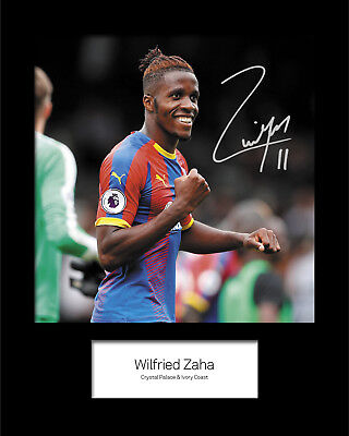 FREE DELIVERY Wilfried Zaha #1 Crystal Palace Signed Photo A5 Mounted Print