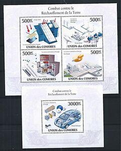COMORES-KOMOREN-2010-BLOCK-MINI-SHEET-SET-ENERGY-EXTRACTION-ENERGIE