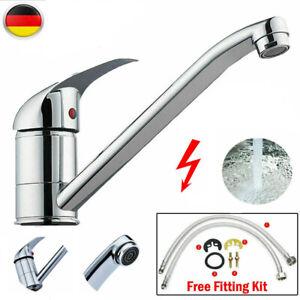 DE Wasserhahn Küche Chrom Spülbecken Küchenarmatur Spüle Mischbatterie für Küche