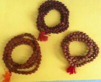 3 Japa/mala108 Bead Rudraksha Mala,red & White Sandalwood Mala (1 Each) Rosary..