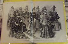 LE MONITEUR DE LA MODE N°40 3/10/1896 MANTEAUX D'HIVER,JEUNES FEMMES ET FILLES