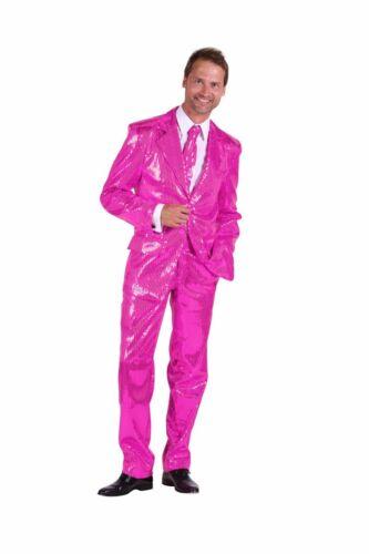 Herren Kostüm Pailletten Anzug rosa Karneval Fasching THE