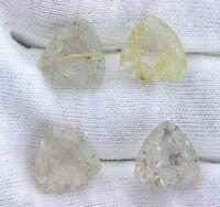 One 12mm Trillion Trilliant Golden Rutilated Quartz Gemstone Gem Stone T2a24