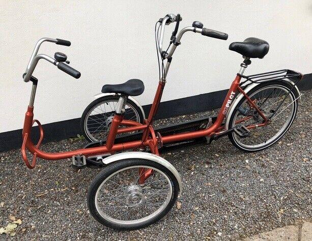 Handicapcykel Tandem, 7 gear