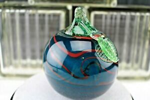 Dave-Fetty-DLF-Glass-Apple-Blue-Green-Red-King-Tut-Swirl-Fenton-Collectibles