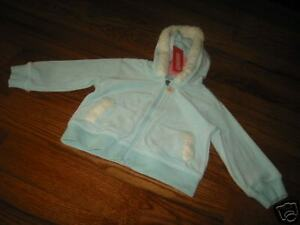 Outerwear Aggressive Gg675 Nwt 2t Gymboree Park City Luxe Blue Velour Hoodie Clothing, Shoes & Accessories