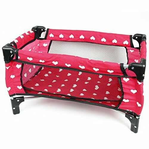 Doll Pack N Play Yard Pen Bed Cradle Crib Kid Toddler Folds Portable Girl Pink