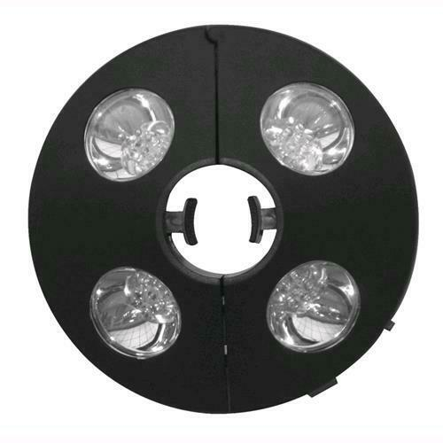 Lampada A Batteria Per Ombrelloni Satellite Luce A 4 Led Per Palo Ø 30-45 Mm.