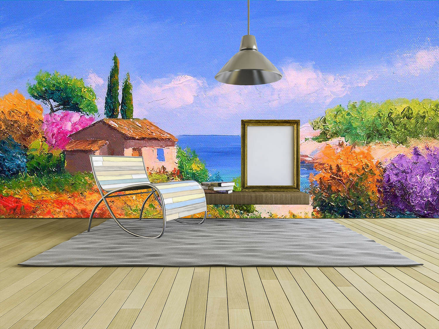 3D Sea Hut Painting 003 Wall Paper Wall Print Decal Wall Deco Wall Indoor Murals