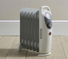 DAEWOO CASA LAVORO BIANCO 800W Portatile è riempita di olio radiatore riscaldatore con termostato