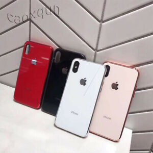 Back-Case-Glass-Luxury-iphone-Tempered-For-With-Plated-Logo-XS-Max