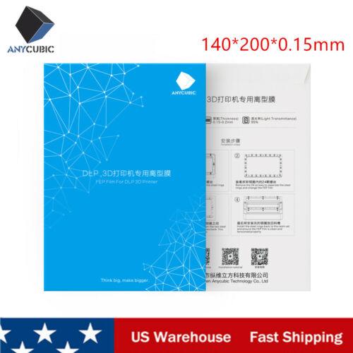 Anycubic FEP Sheet Flim 140x200mm For Photon DLP Resin 3D Printer 0.15-0.2mm