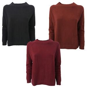 release date 708f9 367ea Dettagli su CA' VAGAN maglia donna 90% lana 10% cashmere modello 13169 MADE  IN MONGOLIA
