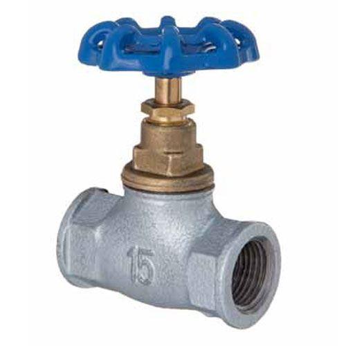 "1//2/"" 2/"" Inch BSP Inline Straight Run Cast Iron Screw Valve Water Flow Regulate"