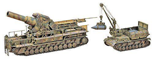 Hasegawa 1 72 54cm Morser Karl w Munitionspanzer IV ausf.F Model Kit NEW Japan
