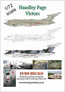 Raf-Handley-Paginas-Victors-1-72-Escala-Euro-Decals-ED-72100-Agua-Slide-Parches
