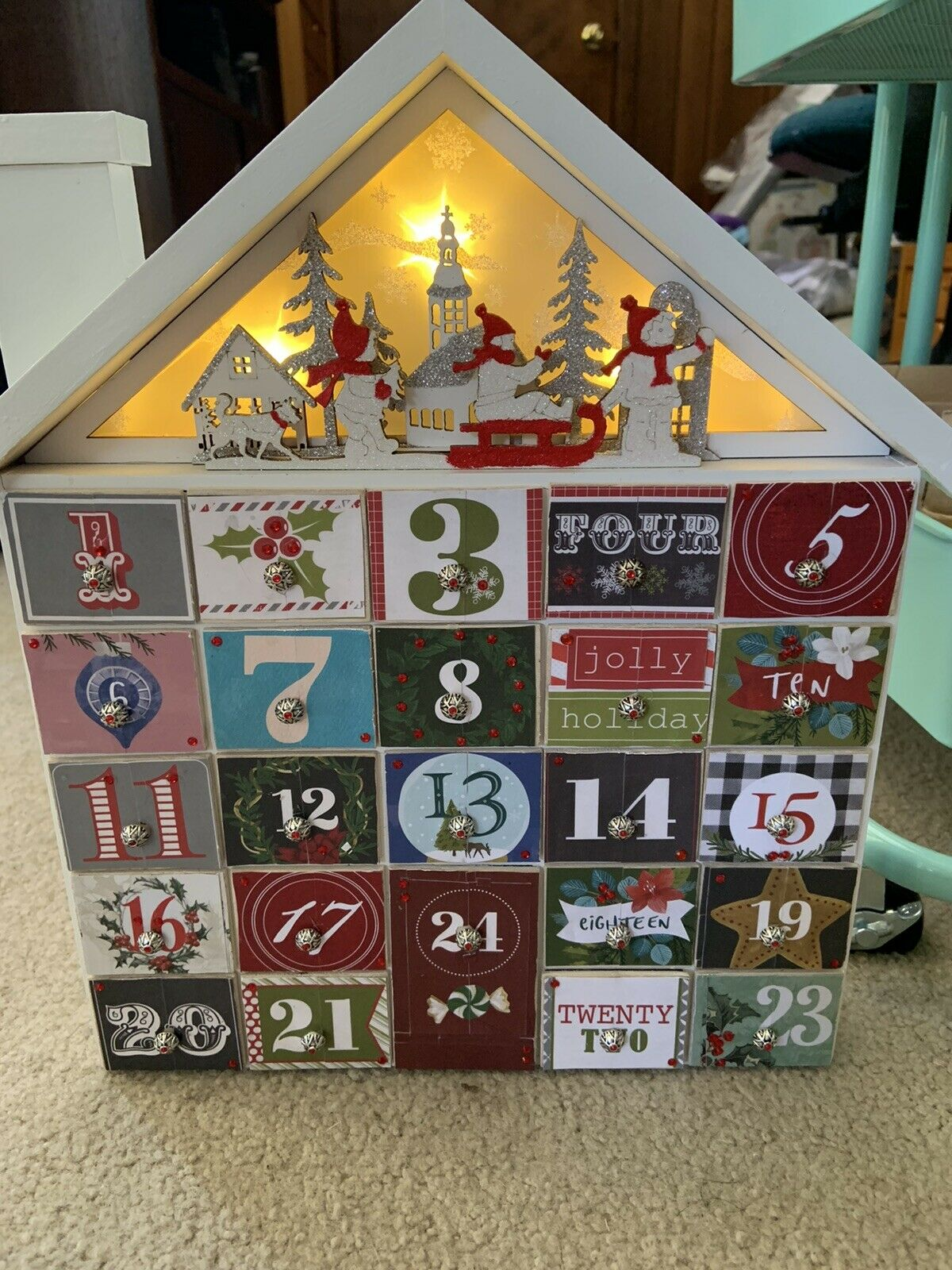 Caspari Advent Calendar With 3d Relief Christmas Ballet 32 X 43 Cm For Sale Online Ebay