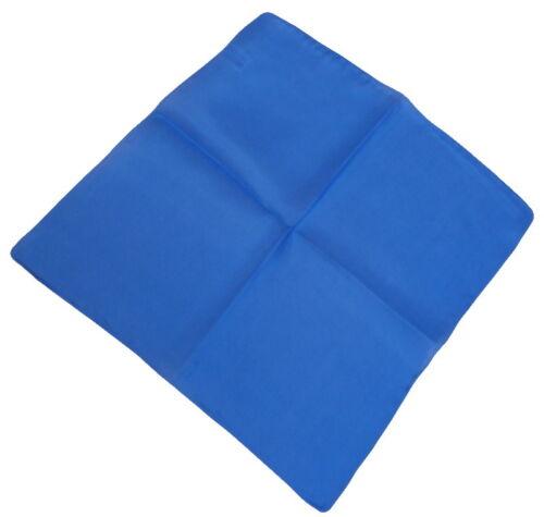 100/% Seide leichtes Einstecktuch Kavalierstuch Taschentuch Tuch blau uni  068