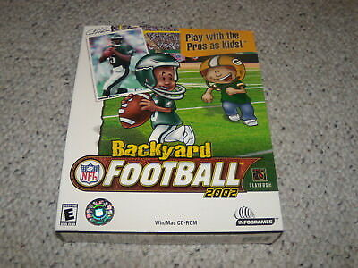 Backyard Football 2002 PC Game New and Sealed in Big Box ...