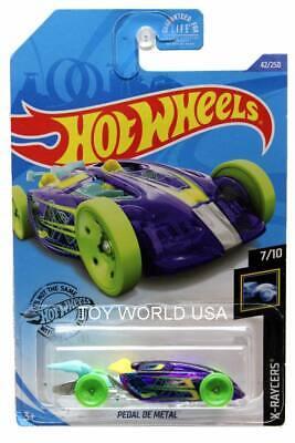 2020 Hot Wheels #42 X-Raycers 7//10 PEDAL DE METAL Blue//Lime w//Yellow HC Sp Wheel