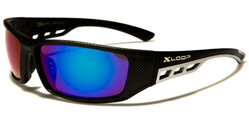 New Xloop Rectangle Sport Men Sunglasses Light Carbon Frame Mirror UVA UVB UV400