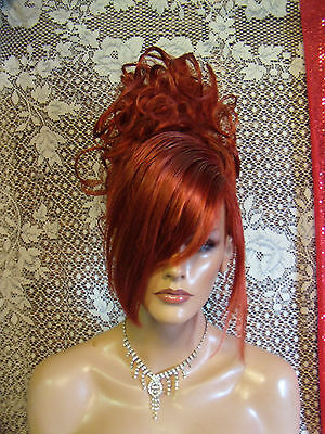 HALLOWEEN SPECIAL VEGAS GIRL WIGS PICK A COLOR SLEEK STYLISH UPDO CLASSY HOT FUN
