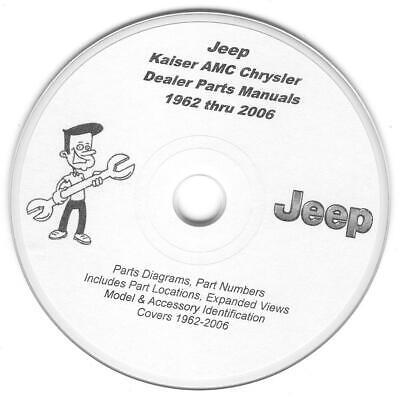 jeep cj wrangler cherokee comanche jeepster commando wagoneer parts manuals