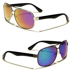 e898d7d6bf Image is loading Khan-Mirrored-Classic-Aviator-Sunglasses-Retro-80s-Flat-