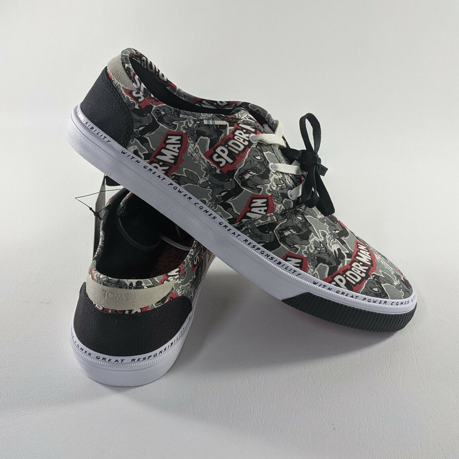 Marvel x Toms Spider Man Carlo Printed Sneakers Shoes Ortholite Mens Size 11