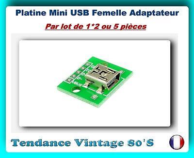 *** 1*2 OU 5 PLATINES USB FEMELLE A DIP ADAPTATEUR 4 PIN 2.54MM ***