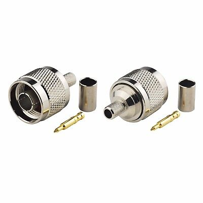 10 pack  TNC  Male  crimp for   LMR-240   RG-8X  Cable 50 ohm Connector