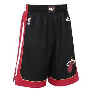 Adidas Miami Chaleur Swingman Shorts Black Red Men's Summer Basket Nba New Bnwt-afficher Le Titre D'origine Une Large SéLection De Couleurs Et De Dessins