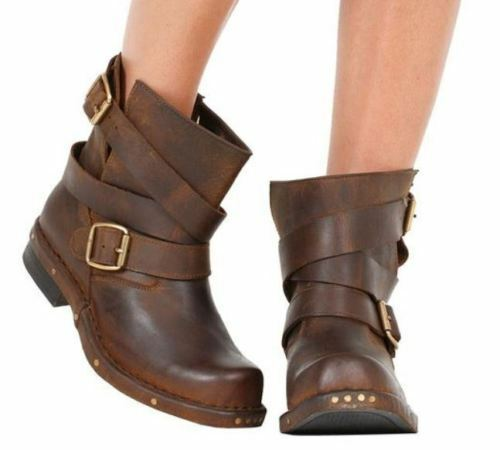 COOL DK Brown Rouges Military Buckle Wrap Oil Tan Fur Boot by Jeffrey Campbell 7