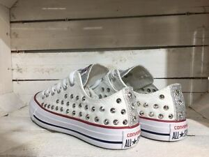 converse all star bianche glitter