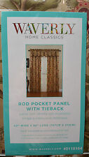 "Waverly ""Imperial Dress Antique"" Rod Pocket Window Panel Curtain w/ Tieback NIP"