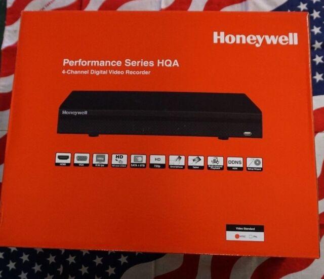 Honeywell Video Performance Series HRHM1041 4CH DVR HQA NVR 1TB 720/1080