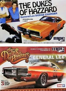 MPC-1-25-The-Dukes-Of-Hazzard-General-Lee-Dodger-Charger-New-Plastic-Model-Kit