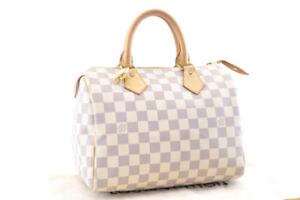 LOUIS-VUITTON-Damier-Azur-Speedy-25-Hand-Bag-N41534-LV-Auth-3725