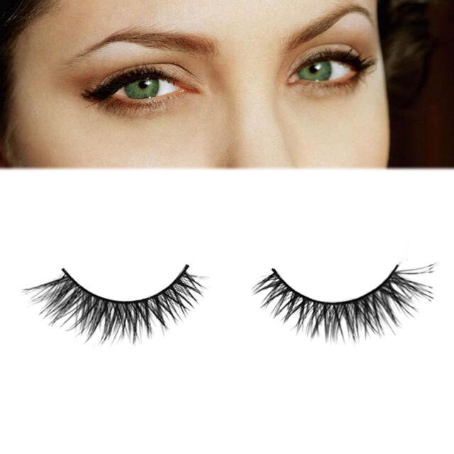 Makeup Handmade Long Mink Hair Long Messy Natural False Eyelashes Eye lashes ww