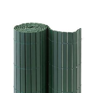 Premium-PVC-Sichtschutzmatte-220-x-500-cm-gruen-Windschutz-Sichtschutzzaun-B-Ware